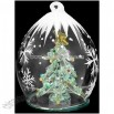 Christmas Tree In Ice Cap Spun Glass Ornament