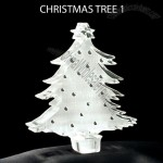 Christmas Tree Shaped Acrylic Award