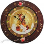 Christmas Wall Clock with Hourly Chime