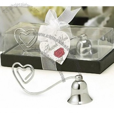 Chrome Candle Snuffer Bell Placecard Holder