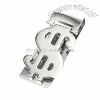 Chrome Dollar Sign Money Clip