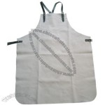 Chrome Leather Apron with Leather Strap