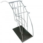 Chrome Metal Brochure Holder