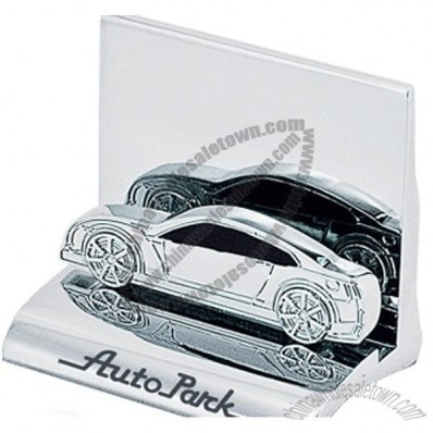Chrome Metal Car Business Card Holder