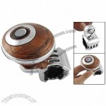 Chrome Plated Bracket Brown Spinner Knob Grip Power Handle for Auto Car