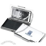 Chrome Plated Card Case W/ Photo Frame