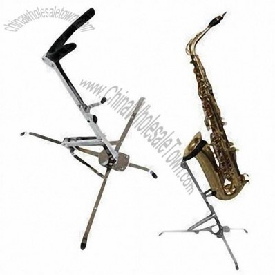 Chrome saxophone/musical instrument stands