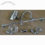 Chromed Bathroom Accessories with 60cm Single Towel Bar