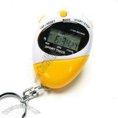 Chronograph Stopwatch with Keychain and Neck String