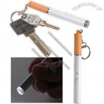 Cigarette Shape LED Keychain with Red Laser Pointer and Ball Pen