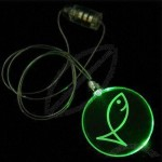 Circle Plastic Flashing Necklaces