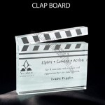 Clapboard Shaped Acrylic Award
