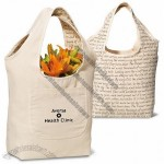 Clara Reversible Cotton Tote, Writing Graphics