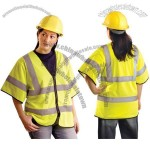 Class 3 Classic Mesh Dual Stripe Safety Vest Yellow