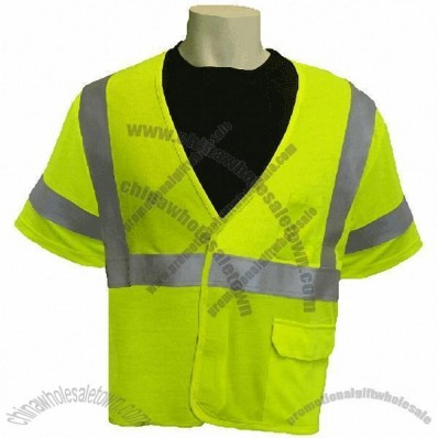 Class 3 FR Modacrylic Reflective Safety Shirts