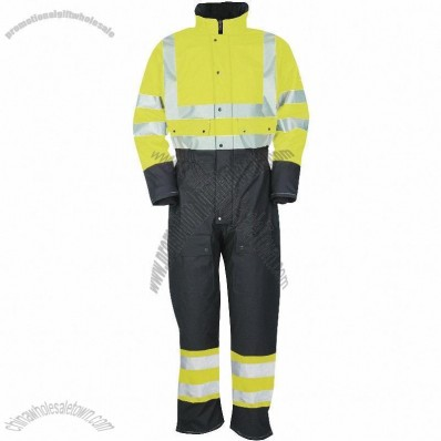 Classic Hi-Vis Winter Coverall Yellow / Navy