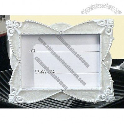 Classic Pearl white place card photo frame