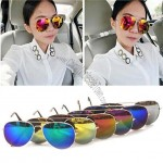Classic Reflective Colorful Sunglasses