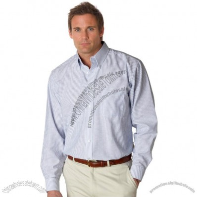 Classic Wrinkle-Free Long-Sleeve Custom Oxford Shirt - Men's - Stripes