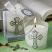 Classic cross design candle favors
