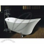 Claw Bathtub, Includes Drainer, Standing Faucet, Shower Head and Hose