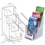 Clear Acrylic 3-Tier Brochure Holder w/BC Pocket
