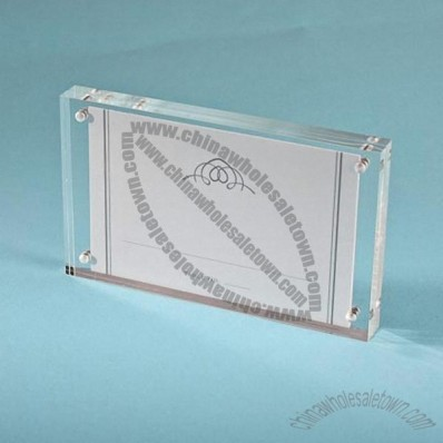 Clear Acrylic Magnetic Photo or Placecard Holder Frame
