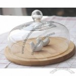 Clear Glass Cake Plate with Dome
