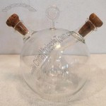 Clear Glass Oil And Vinegar Server Bottle Cruet Dispenser