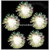 Clear Iridescent Foil Flower 10 Light Set