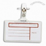 Clear Soft Plastic ID/Card Holder