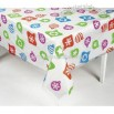 Clear Table Cover With Colorful Ornaments