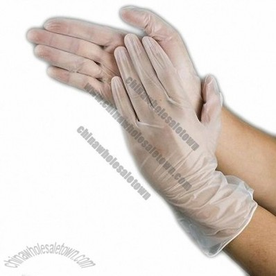 Clear Vinyl Medical Gloves Powdered