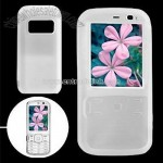Clear White Soft Silicone Skin Case Cover for Nokia N79