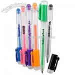 Clear promotional gel pen