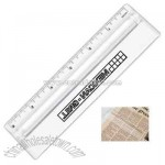 Clear ruler with magnifier