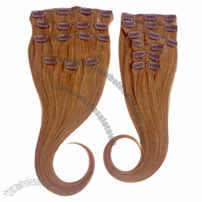 Clip-in Hair Extensions, No Shedding, No Tangle, Silk and Soft