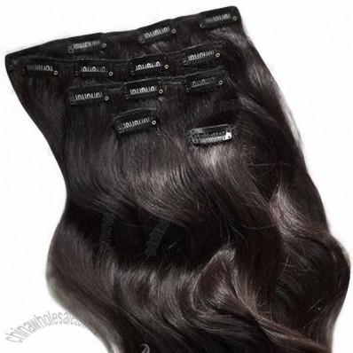 Clip-on Human Hair Extensions