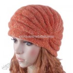 Cloche Hat Hand knit Crochet Beanie Girl