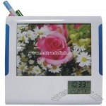 Clock Photo Frame with Detachable Pen Holder