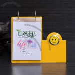 Clock/Smiling face Desk Calendar with Pen Holder