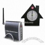 Clock housing Wireless CCTV Camera with 4-channel Receiver and Clock Housing