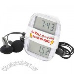 Clock rocker radio pedometer