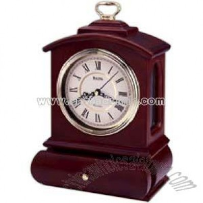 Clock with solid wood case