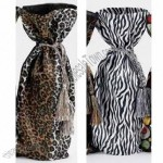Cloth Animal Print Wine Bottle Gift Bag