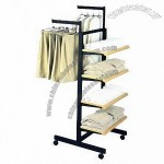 Clothing Display Stand with Wheel, Mobile and Adjustable Height Function Available