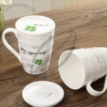 Clover Ceramic Mug with Lid