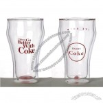 Coca Cola Themed Double Drinking Glass