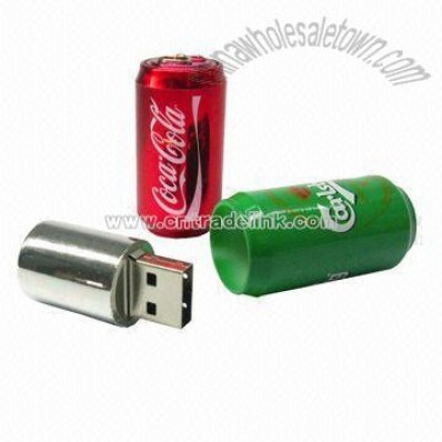 Coca Cola Tin Shaped USB Flash Drives with 8Mbps Reading Speed