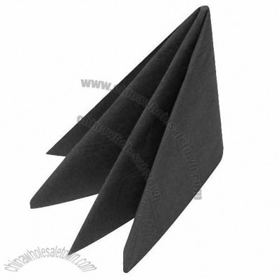 Cocktail Napkin 2ply 25.0 x 25.0cm Black
